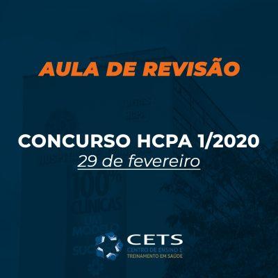 Aula revisão HCPA 1/2020 – Preparatório Hospital de Clínicas de Porto Alegre